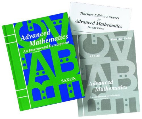 Saxon Advanced Math Homeschool Kit w/Solutions Manual Second Edition, 2007 - Hardcover