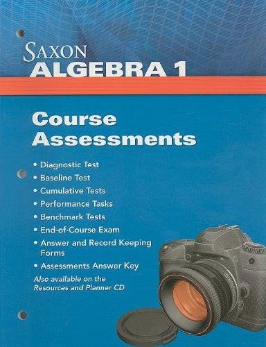 Saxon Algebra 1: Assessments(not in price list)