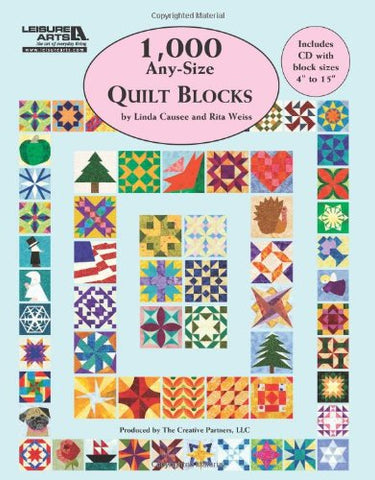 1,000 Any-Size Quilt Blocks (Paperback) w/ CD