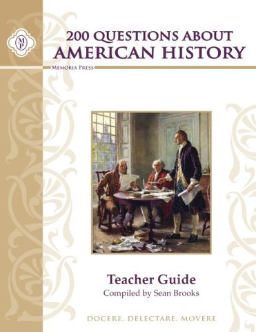 200 Questions About American History Teacher Key, Perfect Paperback