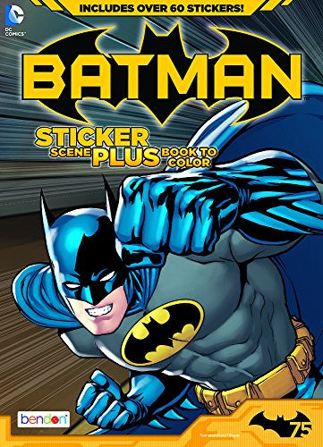 Bendon Publishing Batman Sticker Scene Plus Book to Color