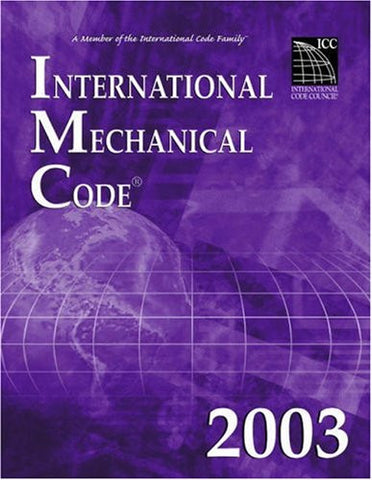 2003 International Mechanical Code (paperback)
