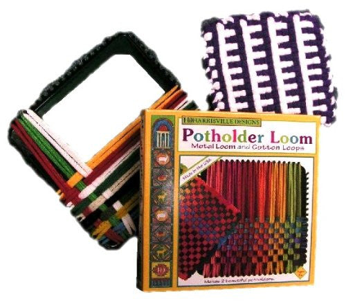 Potholder Loom (Traditional Size) with 1 Small Bag of 100% Cotton Loops