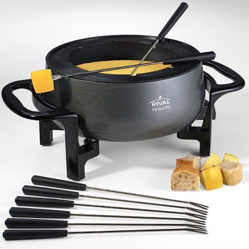 Rival 3-Quart Fondue Pot, Black