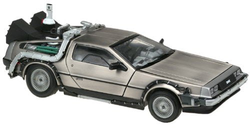 Sun Star - Back to the Future DeLorean (1981, 1/18 scale diecast model car, Stainless Steel Finish)