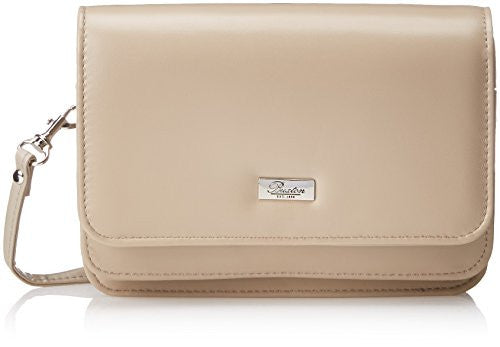 Buxton Double Flap Mini Cross Body Bag, Taupe, One Size