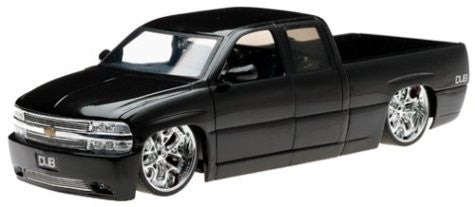 Jada Toys Dub City - Chevy Silverado Pickup (2002, 1/18 scale diecast model car, Black)