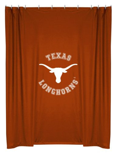 SHOWER CURTAIN Texas Longhorns  - Color Dark Orange -  Size 72x72