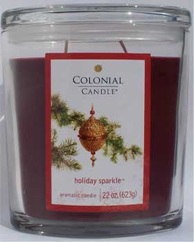 Holiday Sparkle 22 oz Scented Oval Jar Candle