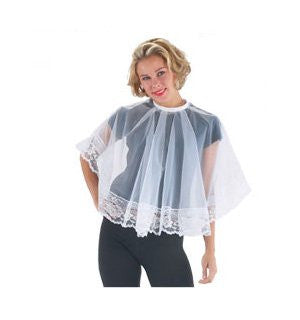 Will-O-Wisp Comb-Out Cape #108T, White