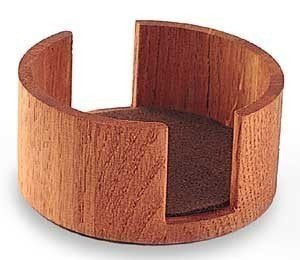 Wood Coaster Holder - Oak - Circular
