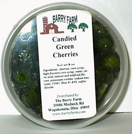 Candied Green Cherries, Whole 16 oz