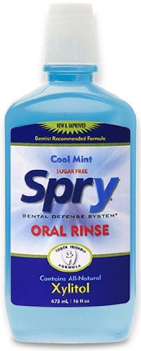Spry Oral Rinse - Blue - 16 oz - Liquid