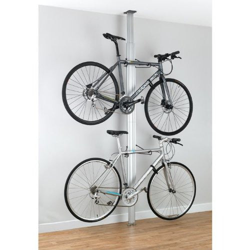 Gear Up Floor to Ceiling Aluminum Bike Rack Silver