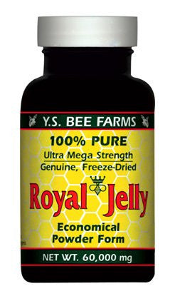 60,000 mg Freeze Dried Royal Jelly Powder 2.1 oz.