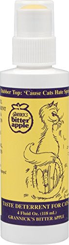 Grannick's Bitter Apple Taste Deterrent for Cats, Dabber Top Bottle - 4 oz.