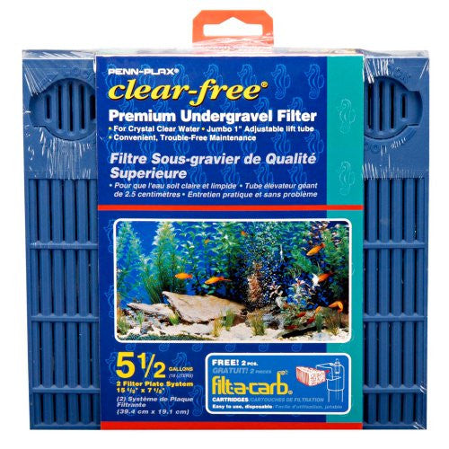 Aquarium Undergravel Filter, Clear-Free Premium UG Filter-5 1/2 Gallon