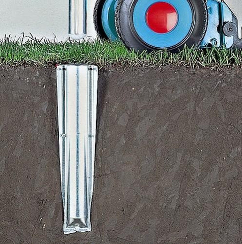 Ground Spike, Metal - Silver - 50 mm for rotary Advance Lift-O-Matic and SmartLift
