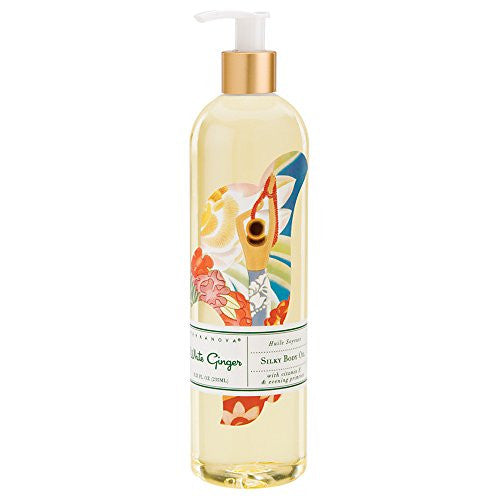 White Ginger Silky Body Oil 8.25 fl oz Bottle