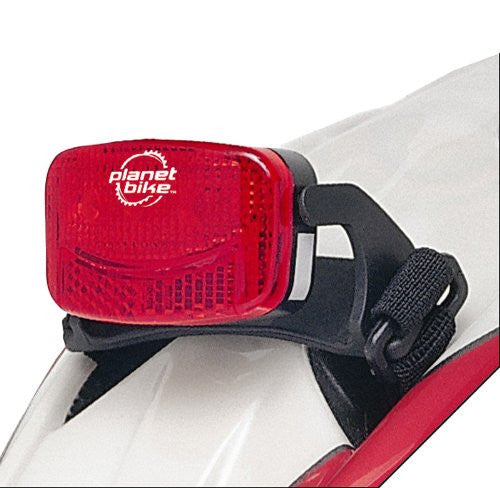 PLANET BIKE BLINKY 3H TAIL LIGHT 3-LED w/ HELMET MOUNT