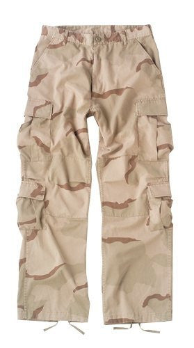 Tri-Color Desert Camo Vintage Paratrooper Fatigues - Extra Large