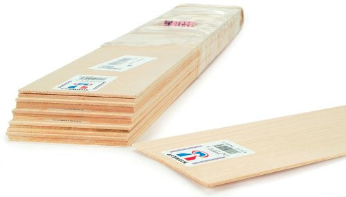 Basswood Sheet 1/16 X 3 X 24 - 15 pcs