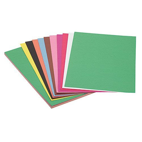 "Groundwood Construction Paper - Assorted, 12"" x 18"" (Pack of 50)"