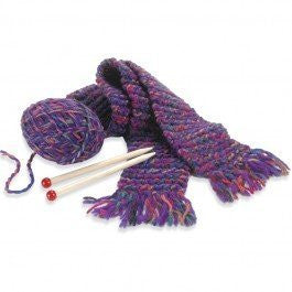 Quick To Knit Scarf: Purple