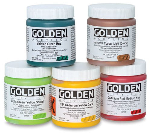 Heavy Body Acrylic - Quinacridone/Nickel Azo Gold - 4 oz Jar