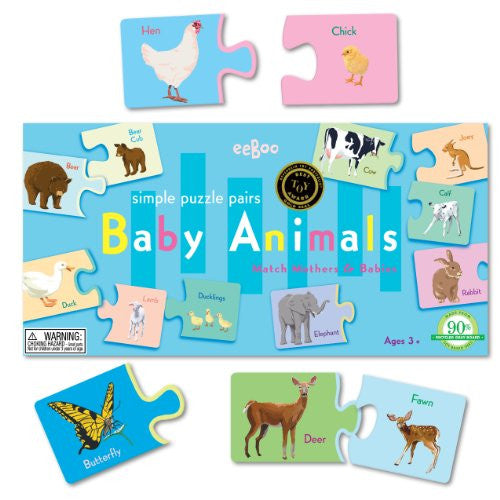 Baby Animal Puzzle Pairs Redesign