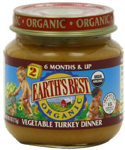 EARTH`S BEST BABY FOODS Fruit & Vegetables Vegetable & Turkey Dinner - 4 oz