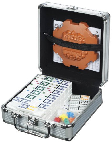 Dominoes - Mexican Train in Aluminum Case