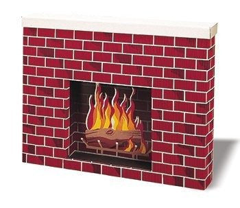 "Corobuff Cardboard Fireplace Decoration, 38"" x 30"" x 7"""