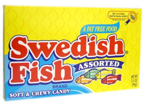 SWEDISH FISH ASST 3.5oz THEATER 12ct CADBURY - Package