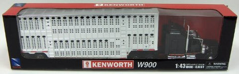 1/43 Kenworth W900 Pot Belly Livestock (Chrome)