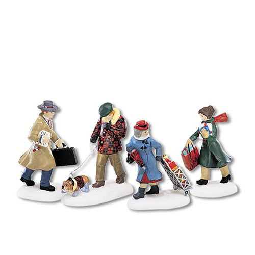 Department 56 Busy City Sidewalks, Set of 4