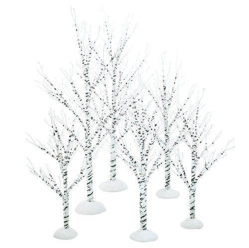 Department 56 Village Winter Birch, Set of 6