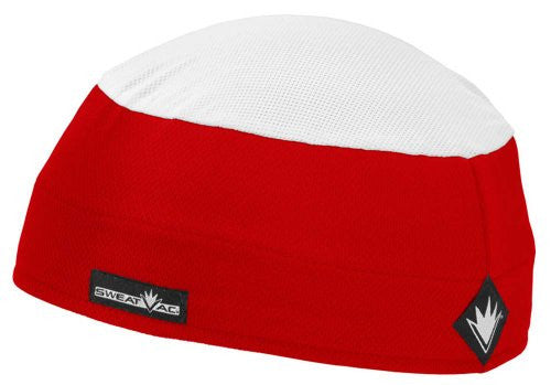 Ventilator Cap With White top, Red