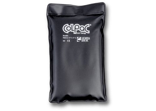 "ColPac heavy‐duty black reuseurethane cold pack , 1/2 size7""x11"""