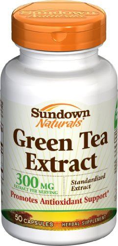 Sundown Naturals Naturals, Green Tea Extract Standardized 300mg Capsules,  50 Capsule Bottle