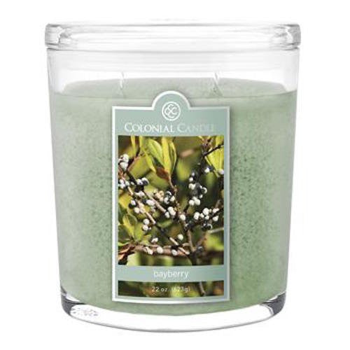 Bayberry 22 oz Scented Oval Jar Candle