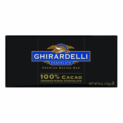 GHIRARDELLI Baking Bars Unsweetened Chocolate 12/4 OZ