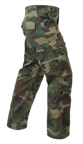 Woodland Camo Vintage Paratrooper Fatigues - Large