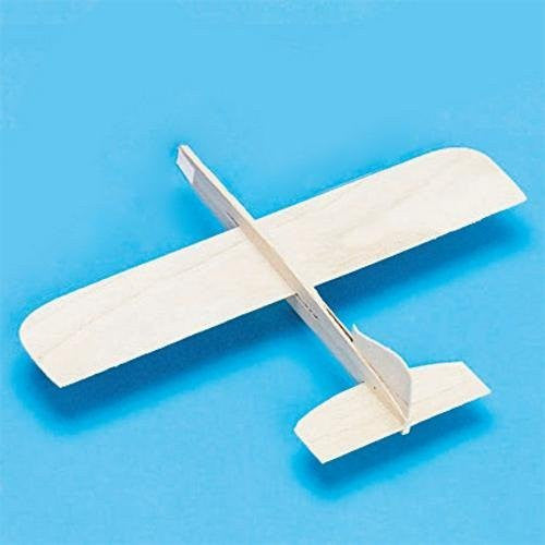 "Balsa-Wood Top Gun Glider Model Plane, 6""L x 8""W (Pack of 36)"
