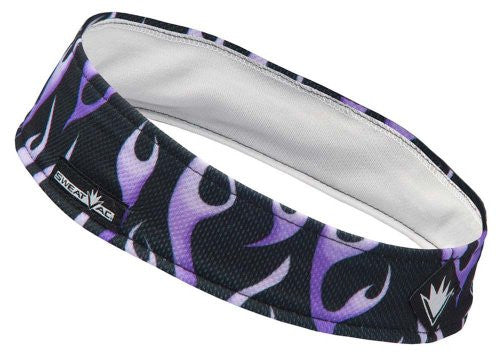 SweatVac Headband (Purple Flames)
