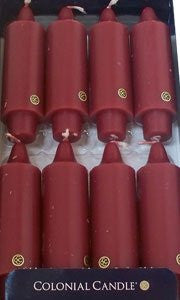 "Mulberry 5"" Grande Classic Taper Dinner Candles, Box of 8"