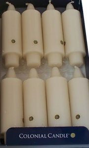 "White Unscented 5"" Grande Classic Taper Candles, Box of 8"