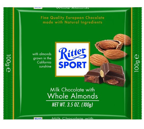 Whole Almond Milk Chocolate bar 3.5 OZ