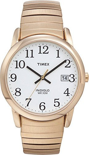 Men's Easy Reader Gold Tone Expansion Band Watch