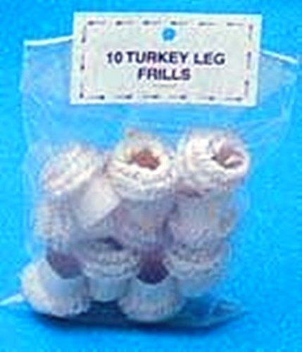 Package of 10 Paper Turkey Frills